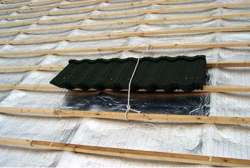 彩石金属瓦屋面安装步骤2