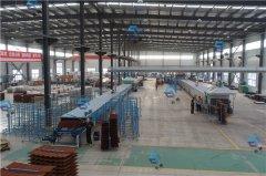 彩麟金属瓦天津工厂生产线